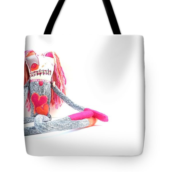 Lollipop The Zombie Raver Tote Bag by Oddball Art Co by Lizzy Love