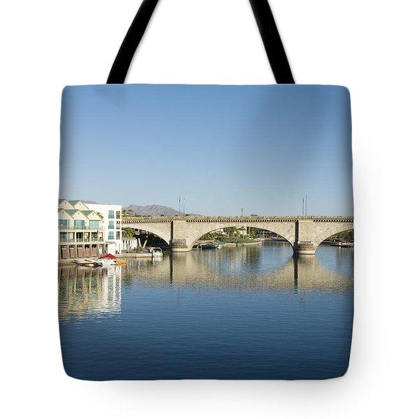London Bridge And Reflection II Tote Bag by Gloria & Richard Maschmeyer