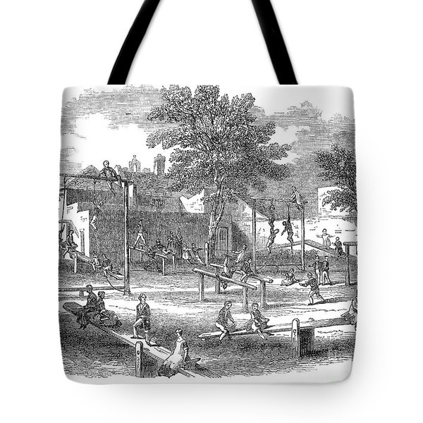London Playground, 1843 Tote Bag by Granger