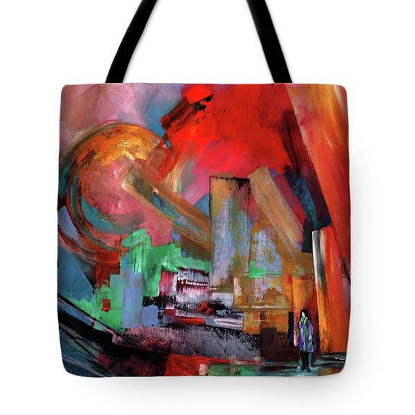 Lonely In The Big City Tote Bag by Miki De Goodaboom