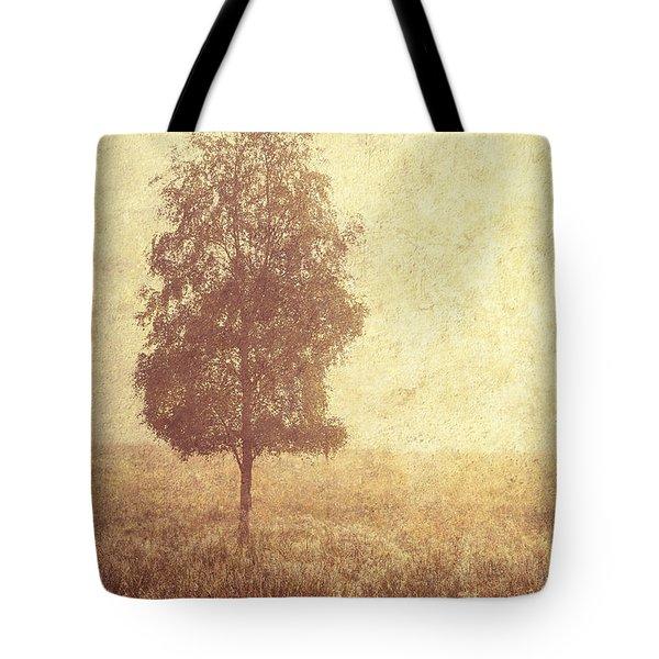 Lonely Tree. Trossachs National Park. Scotland Tote Bag by Jenny Rainbow