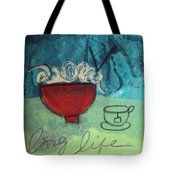 Long Life Noodles Tote Bag by Linda Woods
