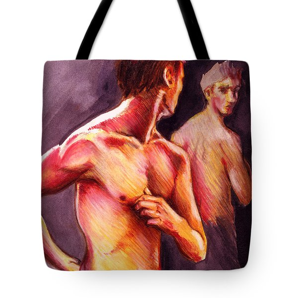 Look Over Your Shoulder Tote Bag by Rene Capone