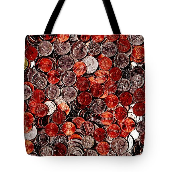 Loose Change . 2 to 1 Proportion Tote Bag by Wingsdomain Art and Photography