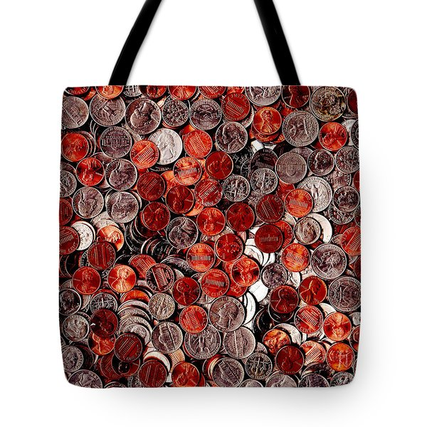 Loose Change . 9 to 12 Proportion Tote Bag by Wingsdomain Art and Photography