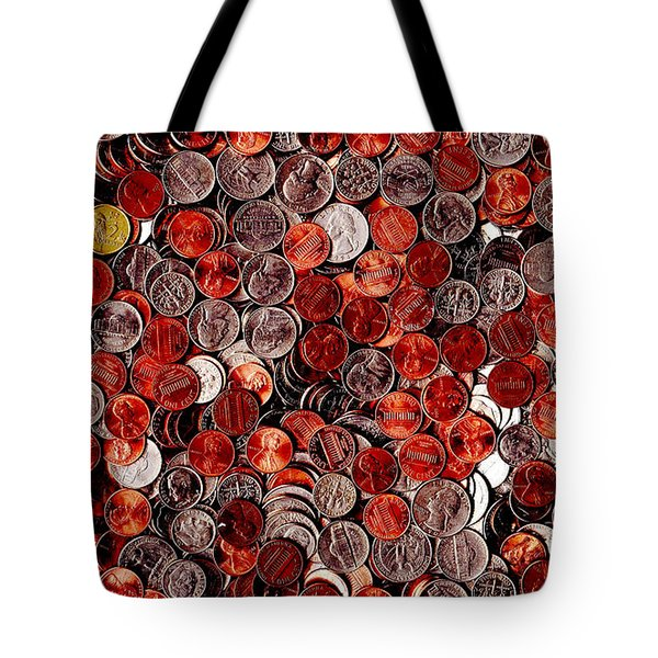 Loose Change . 9 to 16 Proportion Tote Bag by Wingsdomain Art and Photography