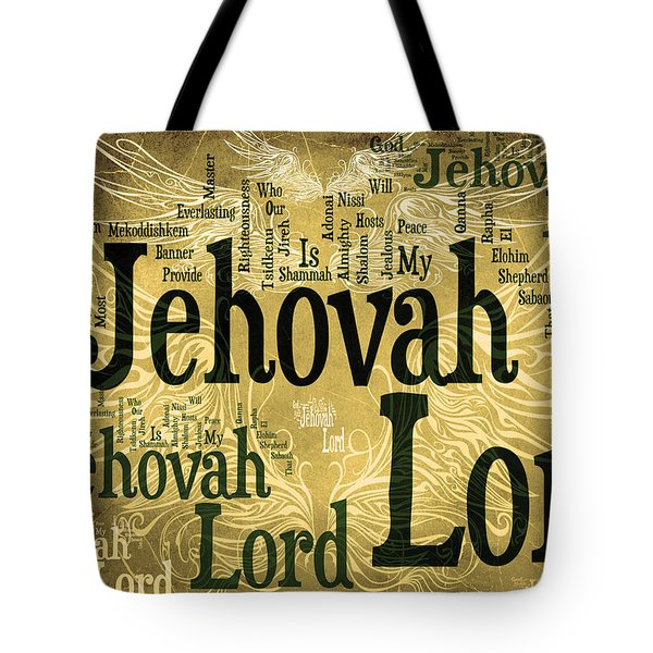 Lord Jehovah 2 Tote Bag by Angelina Vick