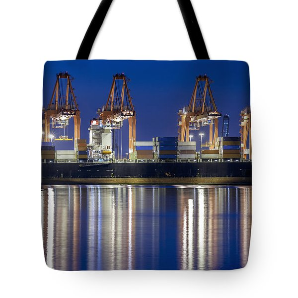 Los Angelos Prot And Reflections Tote Bag by Mike Raabe