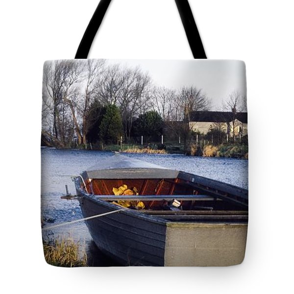 Lough Neagh, Co Antrim, Ireland Boat In Tote Bag by Sici