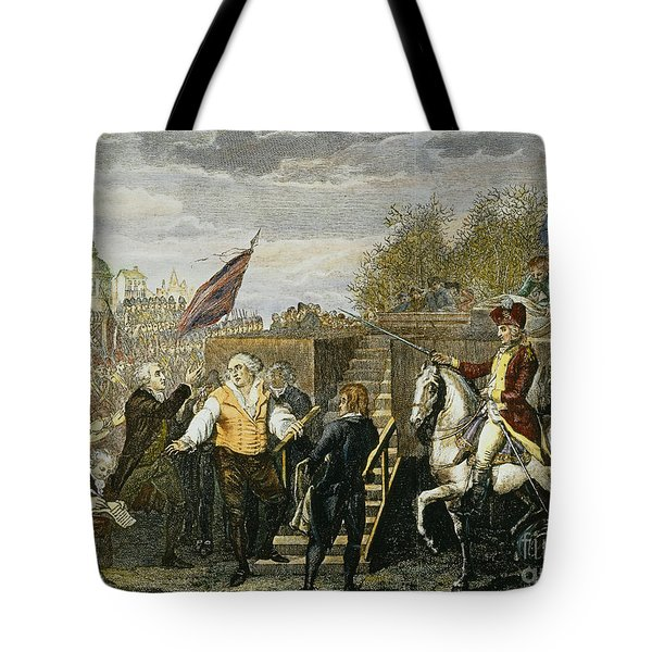 Louis Xvi: Execution, 1793 Tote Bag by Granger