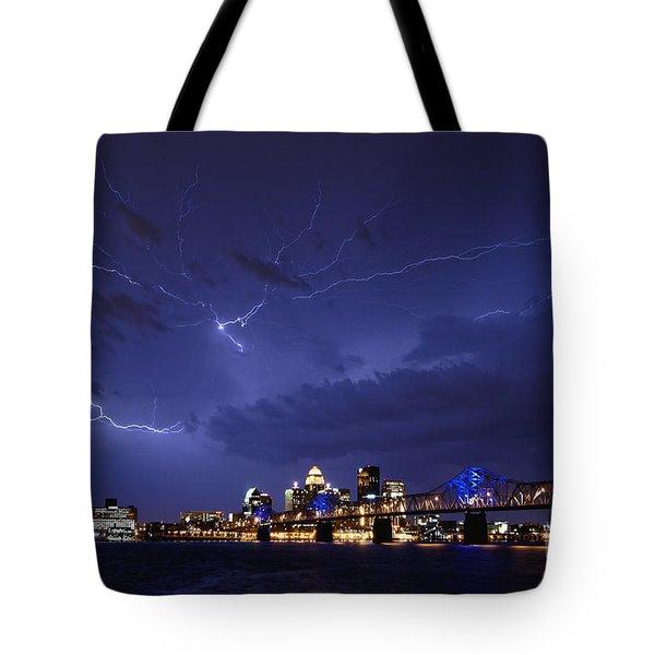 Louisville Storm - D001917b Tote Bag by Daniel Dempster