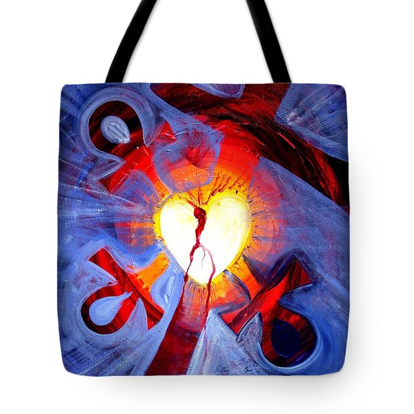 Love - In Three ... For All Tote Bag by J Vincent Scarpace