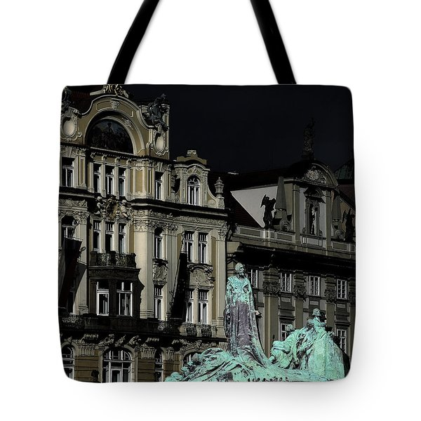 Love Each Other And Wish The Truth To Everyone - Jan Hus Prague Tote Bag by Christine Till