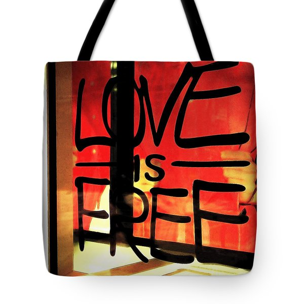 Love Is Free Tote Bag by Cheryl Young