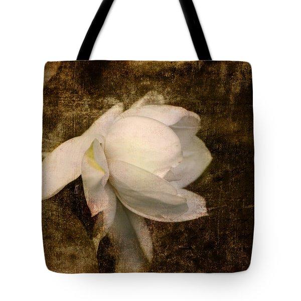 Love Letter VIII Cape Jasmine Gardenia Tote Bag by Jai Johnson