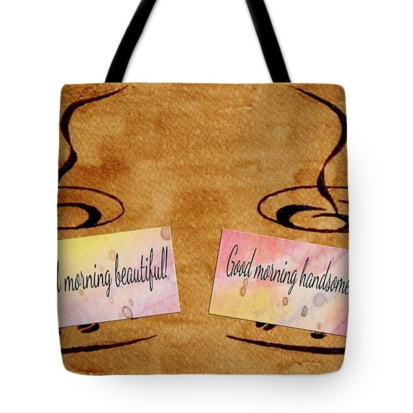 Love Morning Coffee Tote Bag by Georgeta  Blanaru
