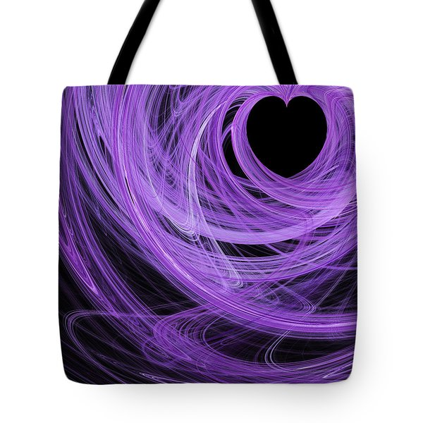 Love Swirls . A120423.689 Tote Bag by Wingsdomain Art and Photography
