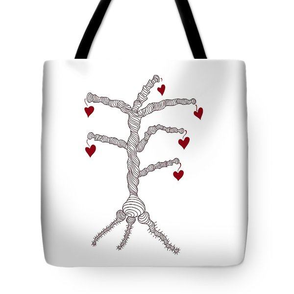 Love tree Tote Bag by Frank Tschakert
