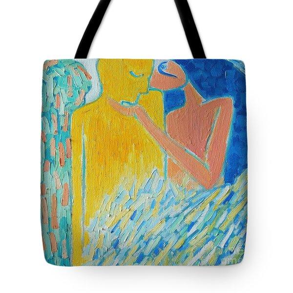 LOVING AN ANGEL Tote Bag by ANA MARIA EDULESCU