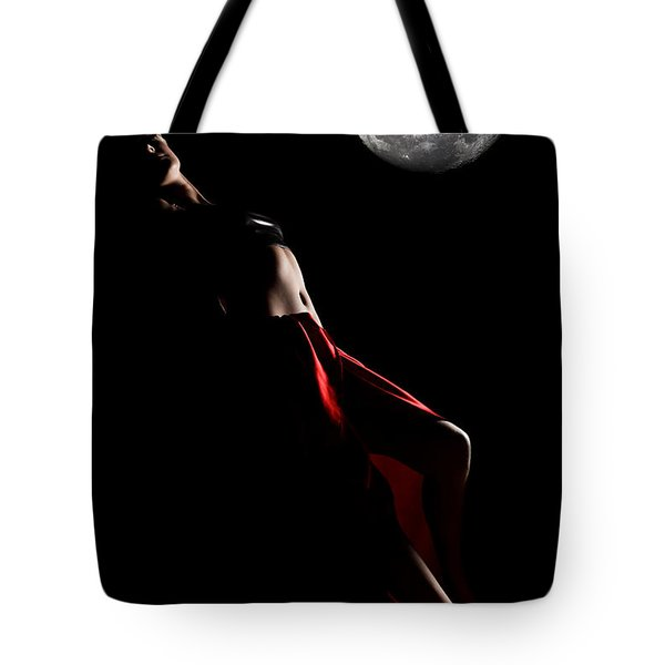 Low Key Portrait Tote Bag by MotHaiBaPhoto Prints