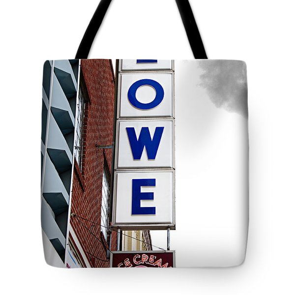 Lowe Drug Store Sign Color Tote Bag by Andee Design