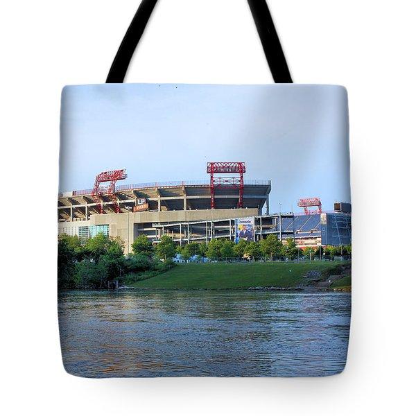 Lp Field Nashville Tennessee Tote Bag by Kristin Elmquist