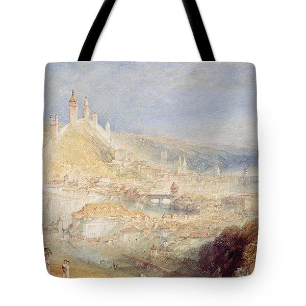 Lucerne From The Walls Tote Bag by Joseph Mallord William Turner