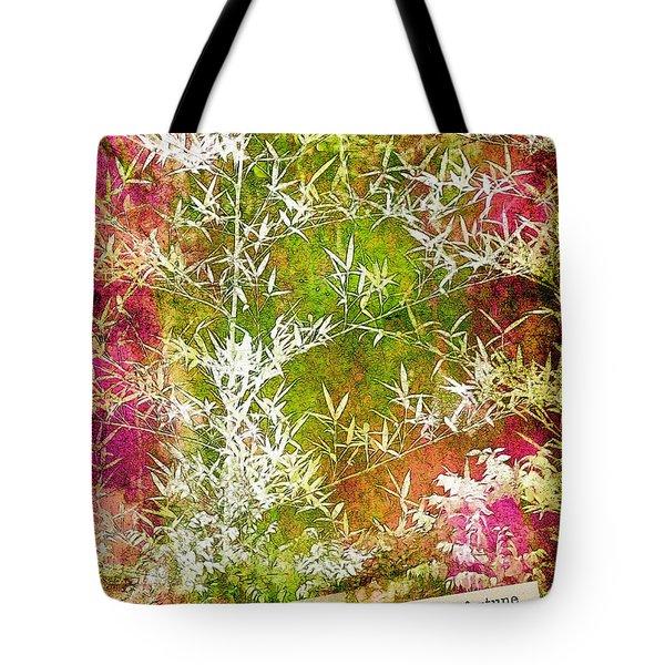 Lucky Bamboo Tote Bag by Judi Bagwell