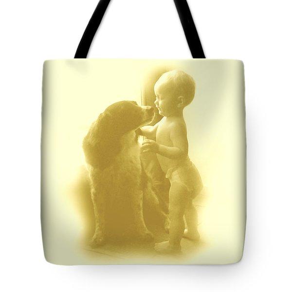 Lucy Kisses Tote Bag by Sheri Lauren Schmidt