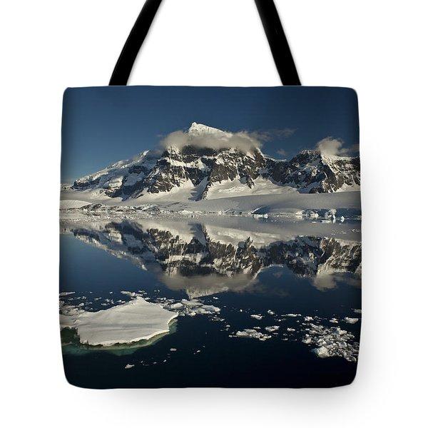 Luigi Peak Wiencke Island Antarctic Tote Bag by Colin Monteath