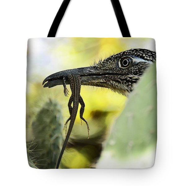 Lunch With A Roadrunner  Tote Bag by Saija  Lehtonen