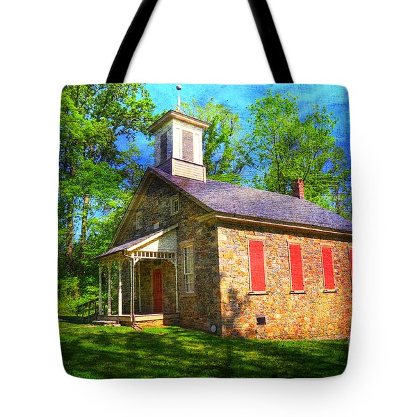 Lutz-Franklin Schoolhouse Tote Bag by Paul Ward