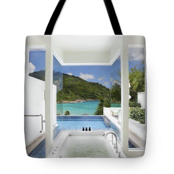 Luxury Bathroom  Tote Bag by Setsiri Silapasuwanchai