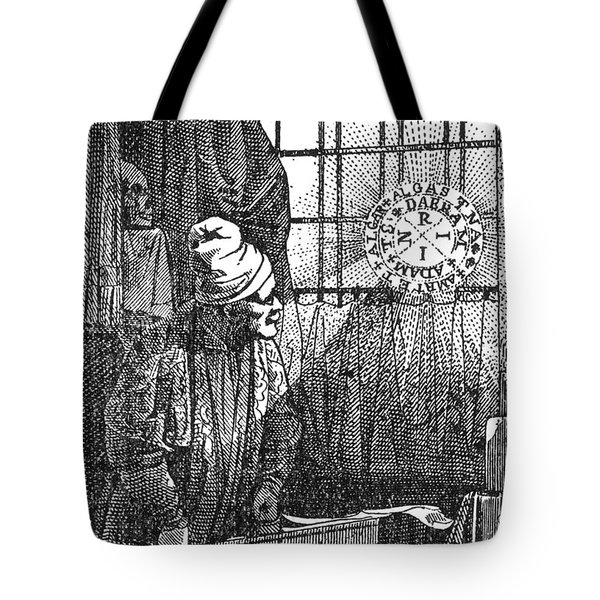 Macrocosm Appearing To Doctor Faustus Tote Bag by Science Source
