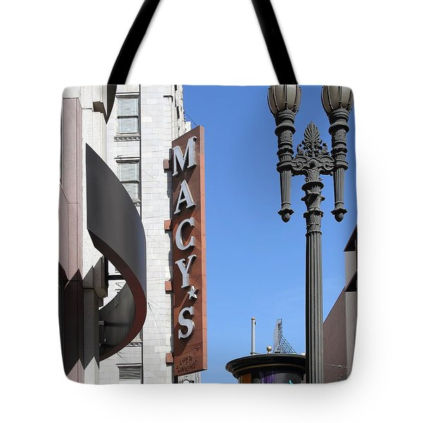 Macys Department Store in San Francisco Tote Bag by Wingsdomain Art and Photography