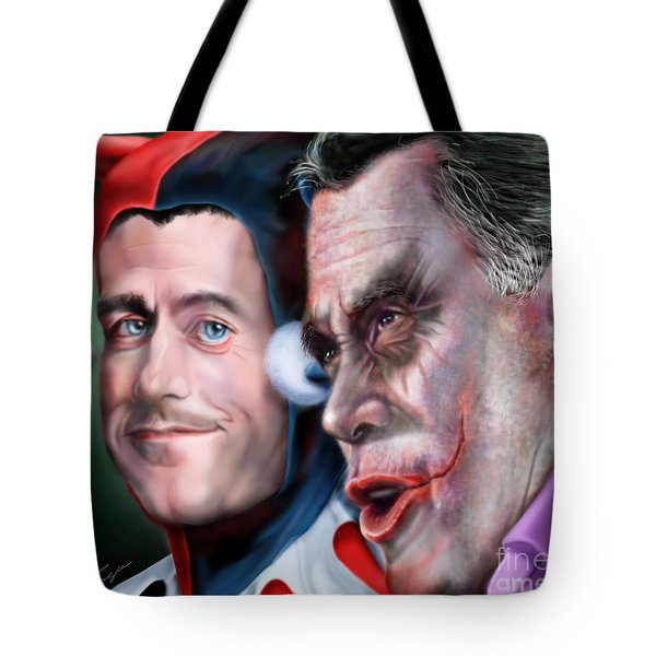 Mad Men Series  4 Of 6 - Romney And Ryan Tote Bag by Reggie Duffie
