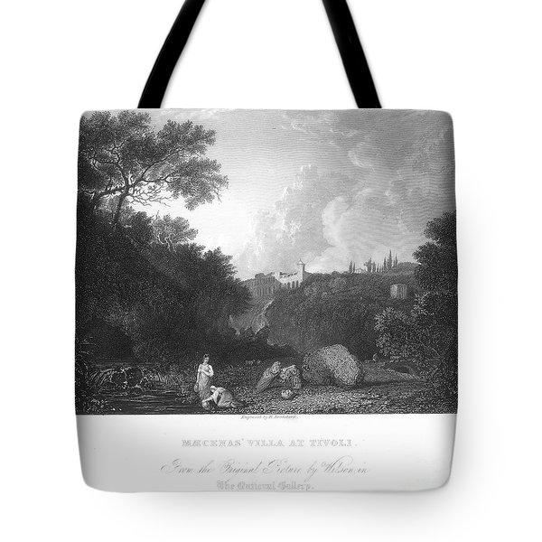 Maecenas Villa At Tivoli Tote Bag by Granger