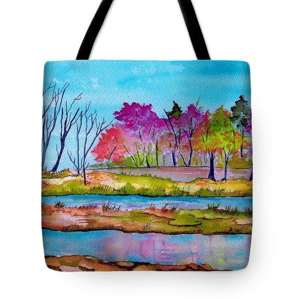 Magenta Woods Tote Bag by Brenda Owen
