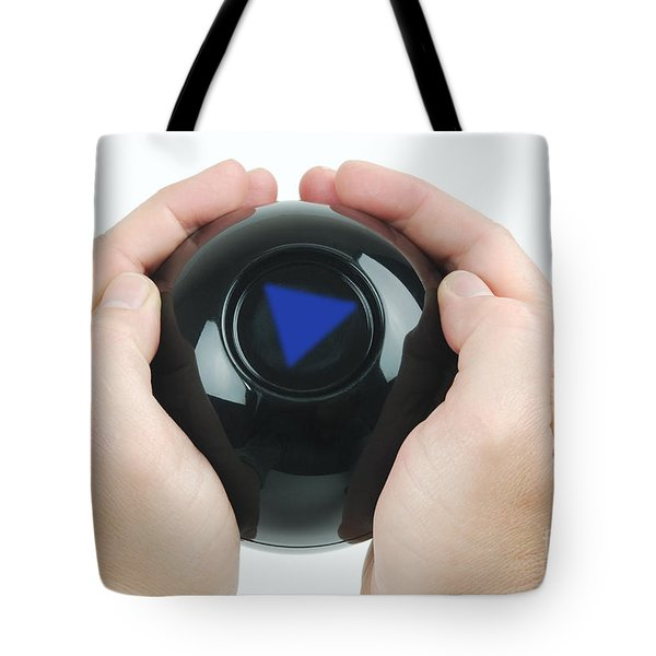Magic Eight Ball, No Message Tote Bag by Photo Researchers, Inc.