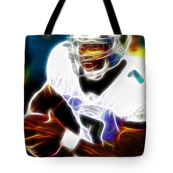 Magical Michael Vick Tote Bag by Paul Van Scott