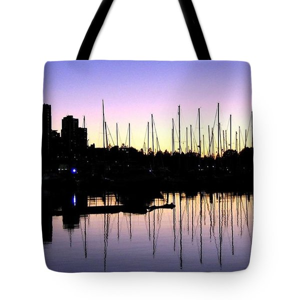 Magnificent Vancouver Sunset Tote Bag by Will Borden