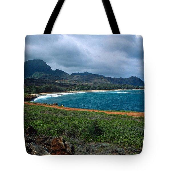 Maha'ulepu Beach Tote Bag by Kathy Yates