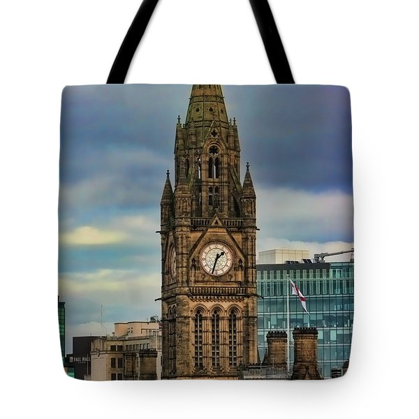 Manchester Town Hall Tote Bag by Heather Applegate