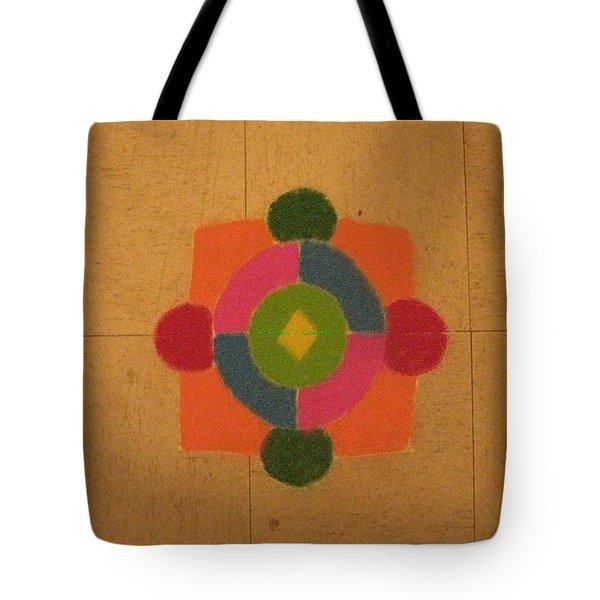 Mandal rangoli Tote Bag by Sonali Gangane