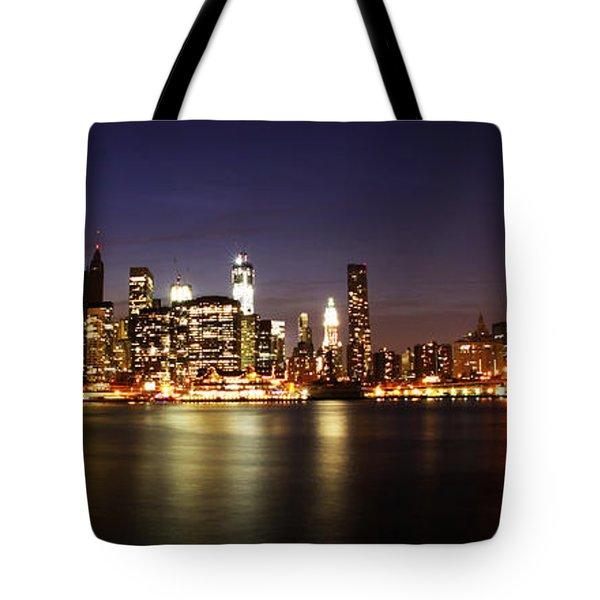 Manhattan Panorama Tote Bag by Andrew Paranavitana