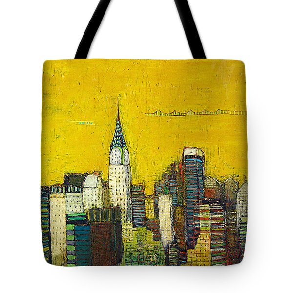 Manhattan With Chrysler And Empie Tote Bag by Habib Ayat