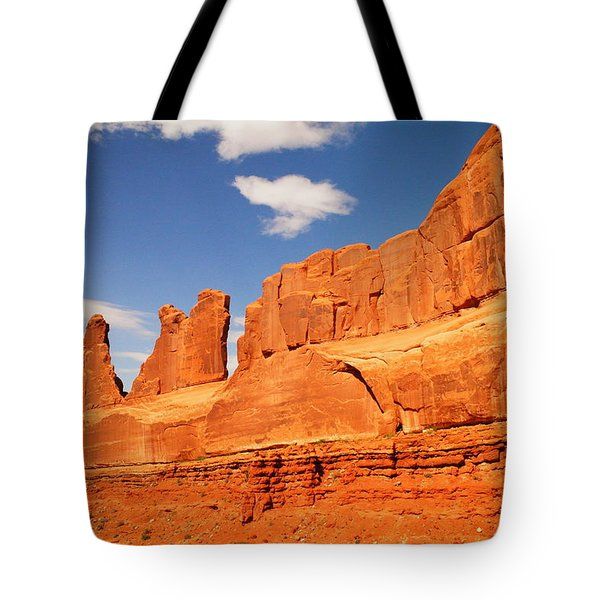 Manhatten In Utah Tote Bag by Jeff Swan