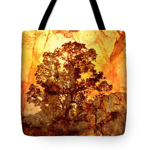 Marbled Tree Tote Bag by Marty Koch