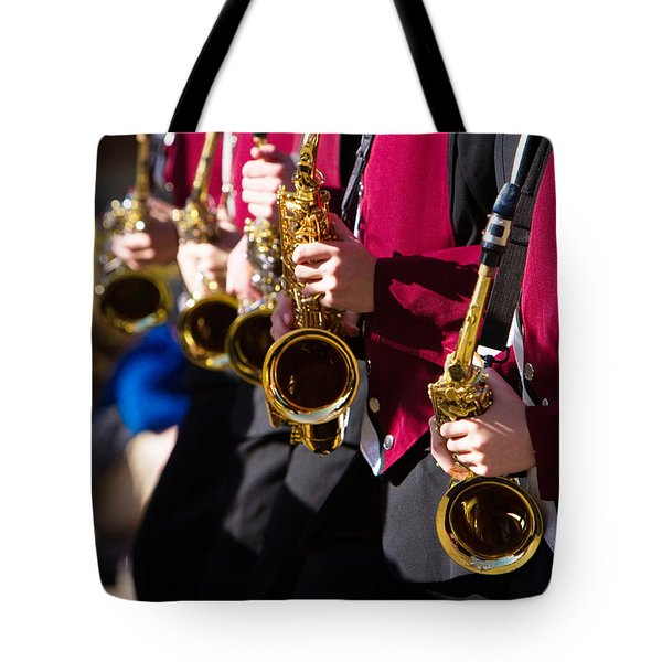Marching Band Saxophones  Tote Bag by James BO  Insogna