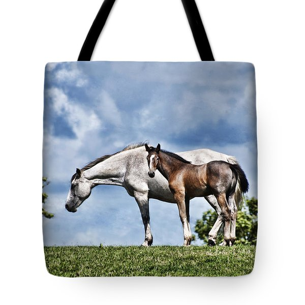 Mare And Foal Tote Bag by Steve Purnell